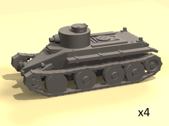 1/220 Christie T3 tank 3d printed