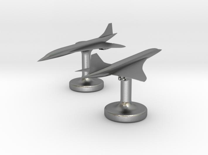 Concorde Cufflinks 3d printed