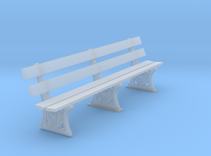 GWR Bench 7mm scale 10ft 3d printed