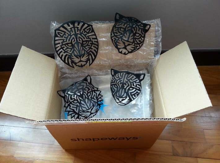 Modern Faux Taxidermy - Tiger Head (S) 3d printed