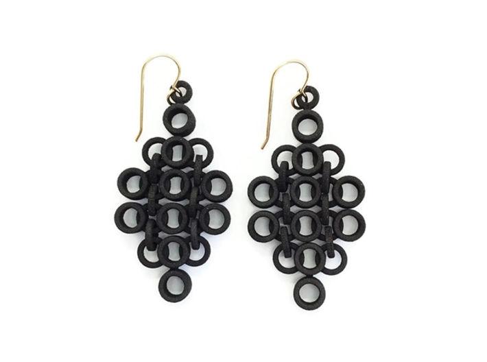 Geometric Statement Earrings 3d printed Urban chic earrings