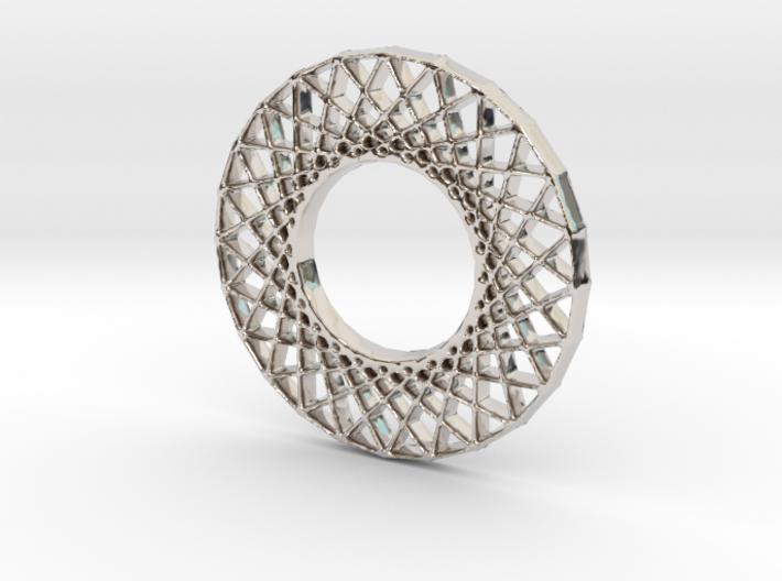 Modern Abstract Geometric Pendant 3d printed