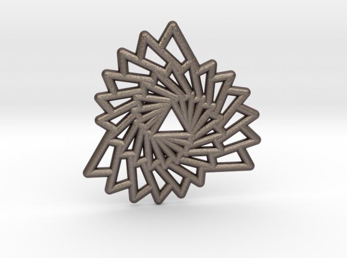 Triangle Vortex Pendant 3d printed