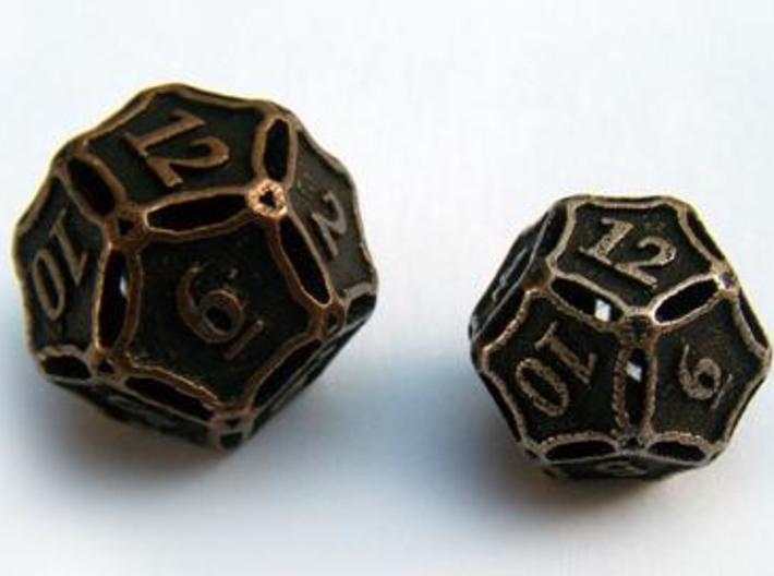 Large Premier d12 3d printed Compared to a standard-sized Die12