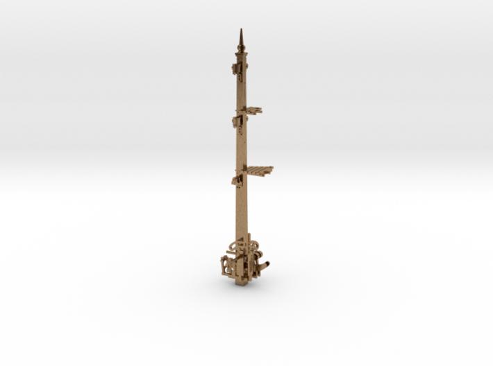HO NSWR LQ 2 Arm 23 Ft Signal Post + Parts 3d printed