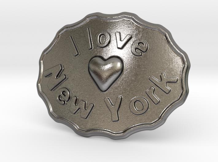 I Love New York Belt Buckle 3d printed