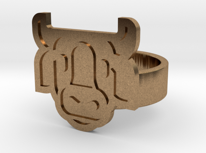 Cow Ring 3d printed