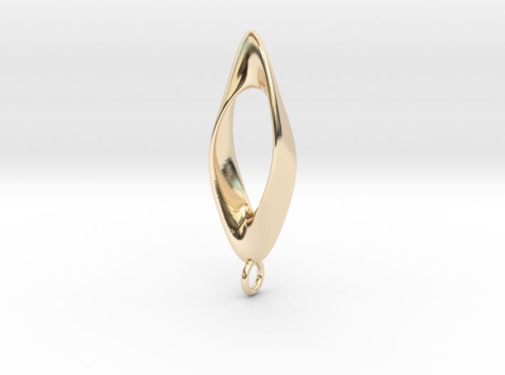 Obius pendant with loop 3d printed