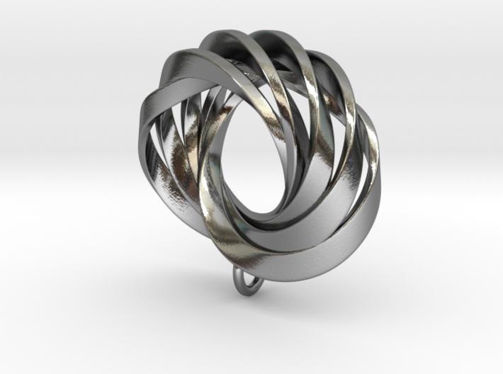 Coradeciem pendant with loop 3d printed