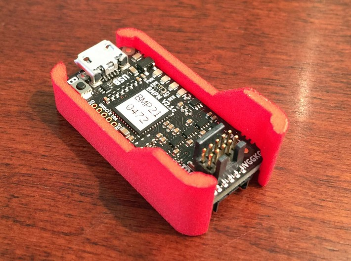 Case - Black Magic Probe - With Fins 3d printed Loaded with the Black Magic Probe