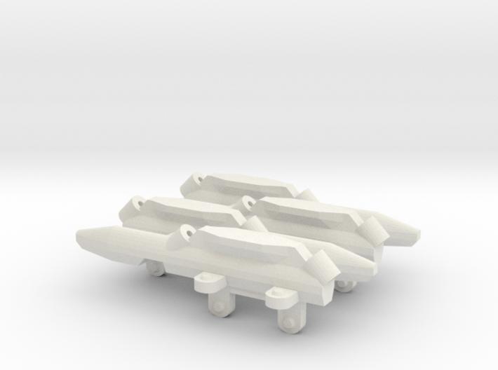 Triple missile pylon for Station4 (X4) 3d printed
