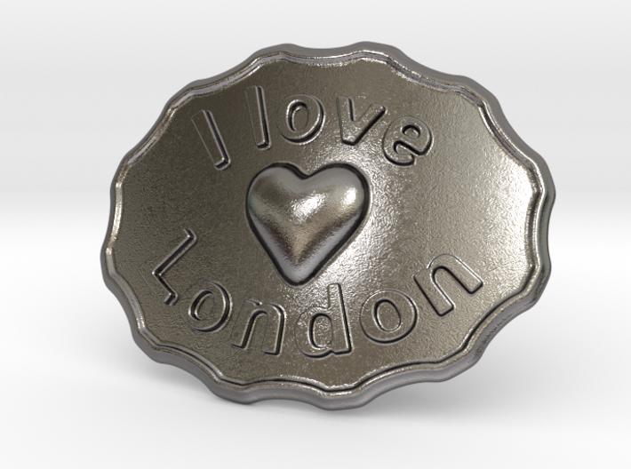 I Love London Belt Buckle 3d printed
