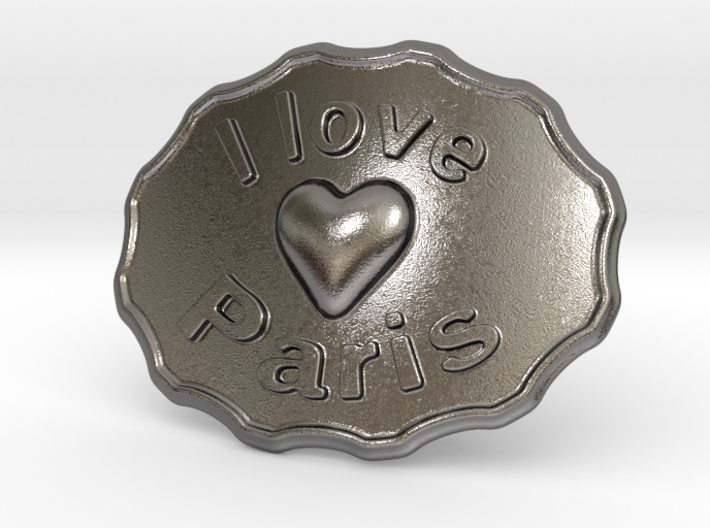 I Love Paris Belt Buckle 3d printed