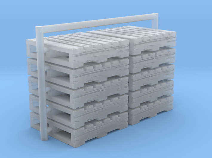 Ho scale Pallets set of 10 3d printed