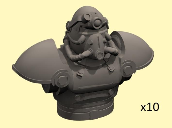 28mm Wastefall power armor torso+head 3d printed