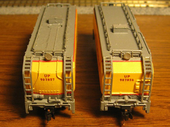 UP Water Tender Pre Rebuild (Ex Turbine) Type 2 3d printed Models By Mark Peterson