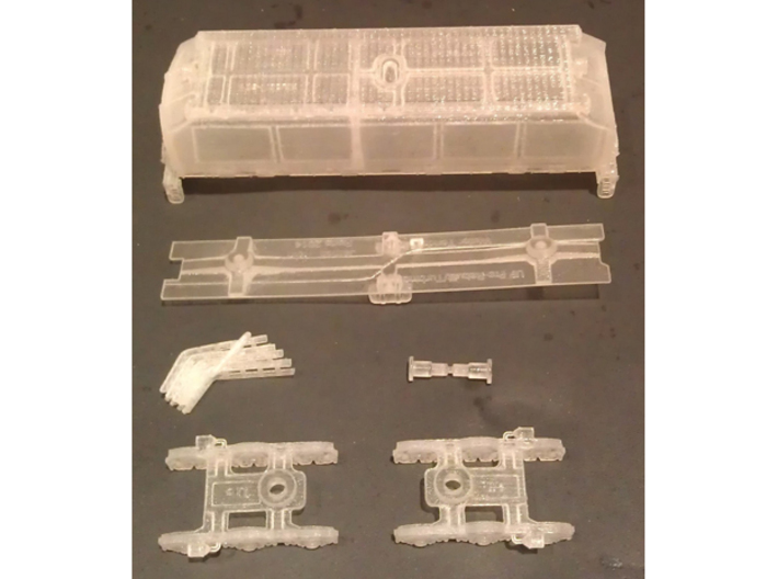 UP Water Tender Pre Rebuild (Ex Turbine) Type 2 3d printed Type 1 Kit Shown
