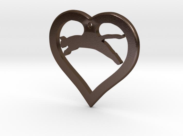 The Love Hunter (steel pendant) 3d printed