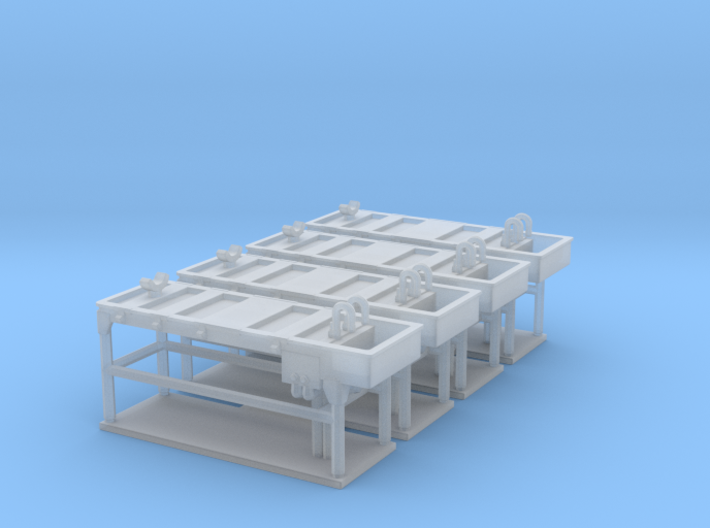 Autopsy table 01. HO Scale (1:87) 3d printed