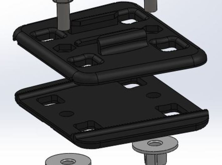 Imprenta3D GoPro mount for kitesurfing lines. 3d printed