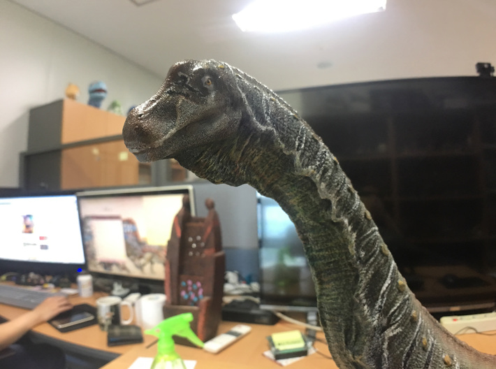 Alamosaurus Head (Total 80cm / 1:36) 3d printed