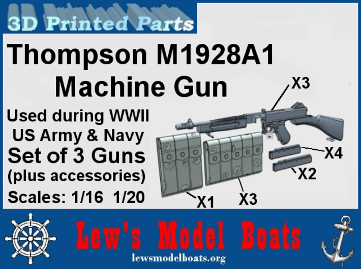 Thompson M1928A machine gun (w/acc) 3d printed