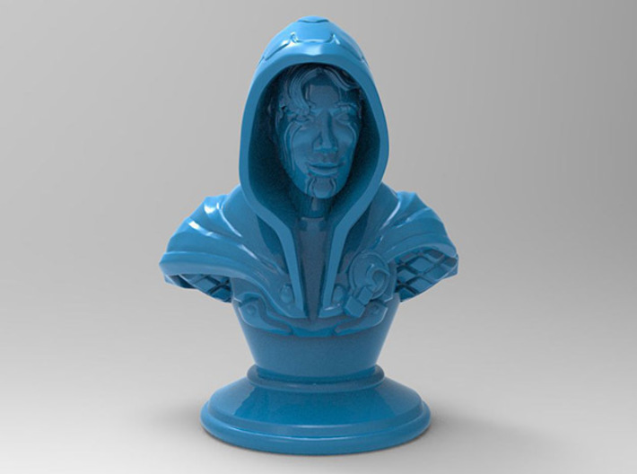 Rogue-Mage Bust 3d printed