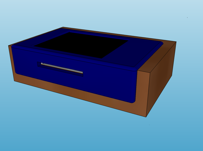 1.8 TFT Display Module Bezel + SD Slot 3d printed Render of typical use - Visual representation only