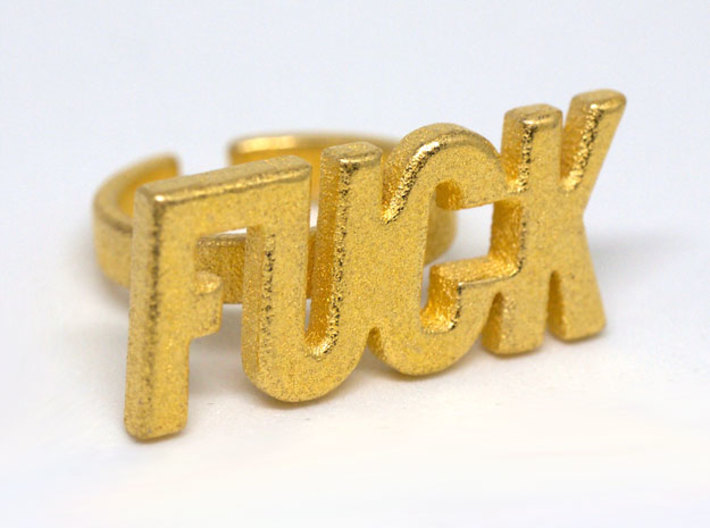 FUCK - Statement Ring 3d printed