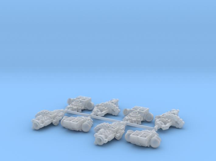 4x Mk1 Blackwatch Cannon w/Packs 3d printed