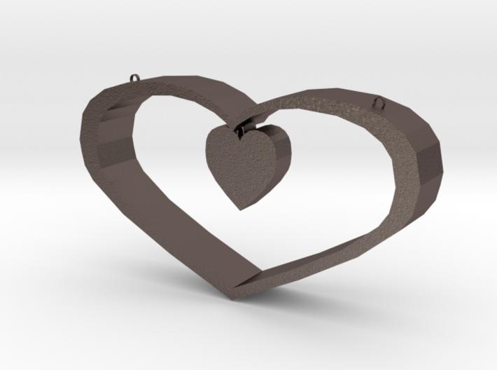 Heart Pendant - Large 3d printed