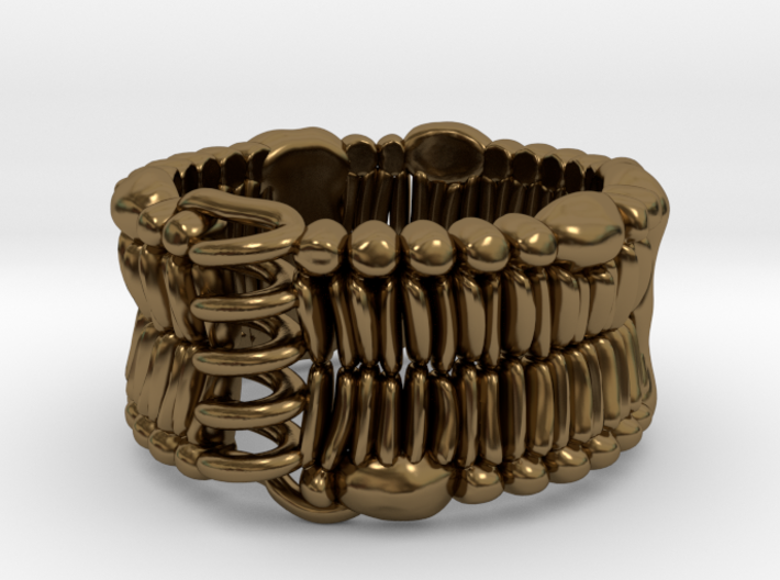 Cell Membrane Ring - Science Jewelry 3d printed