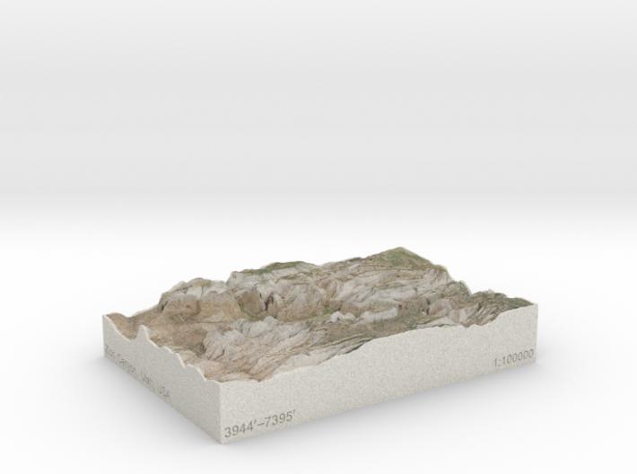 Zion Canyon, Utah, USA, 1:100000 Explorer 3d printed