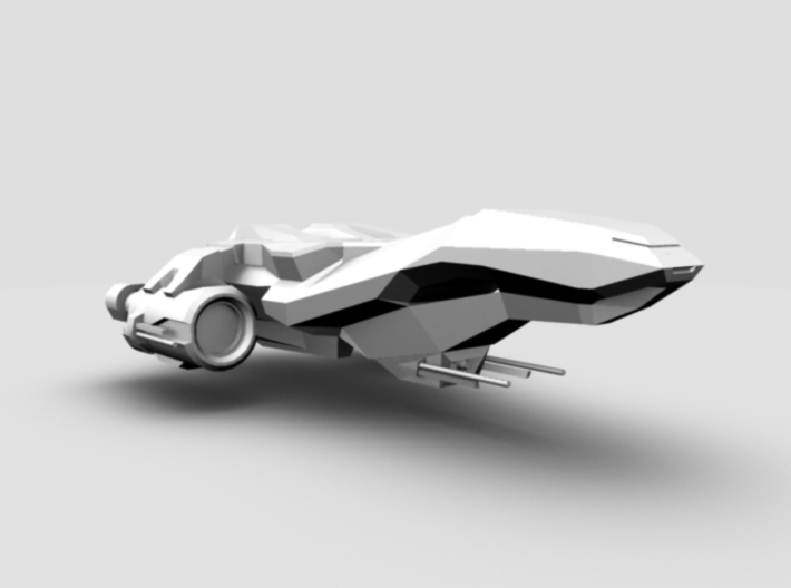 Spaceship 3d printed Occlusion Render, Perspective