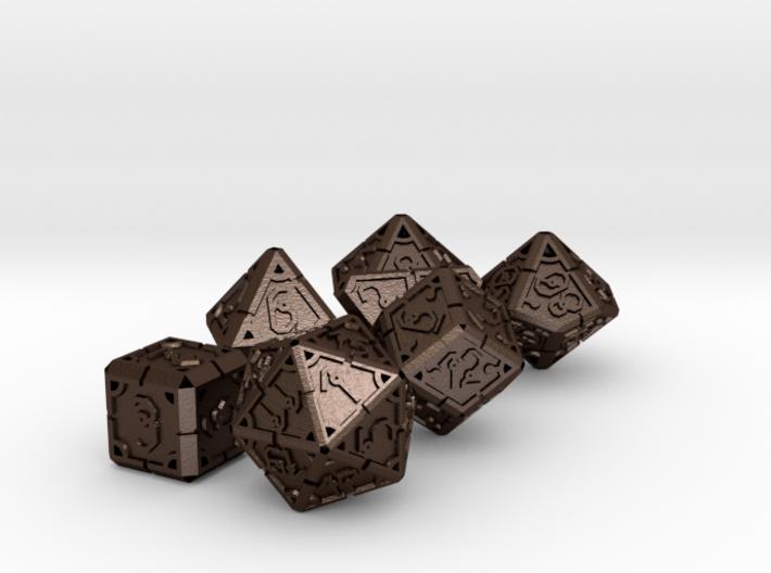 Vertex Dice RPG Set and Singles 3d printed