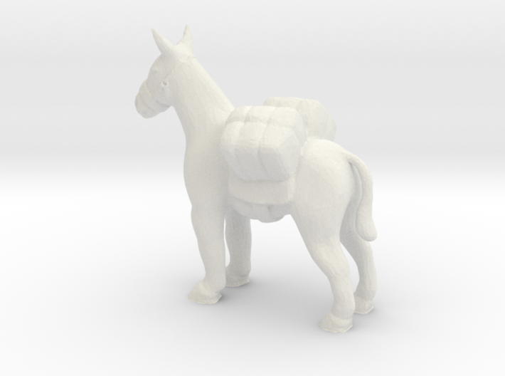 S Scale Pack Mule 3d printed This is a render not a picture