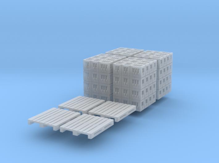4x DIN-Palette mit Cola-kästen (TT 1:120) 3d printed