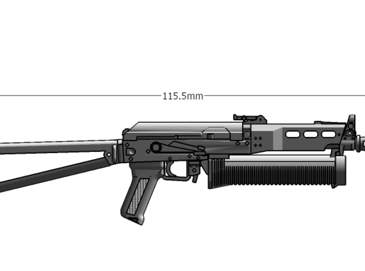 1:6 scale Russian Bizon SMG revised 3d printed