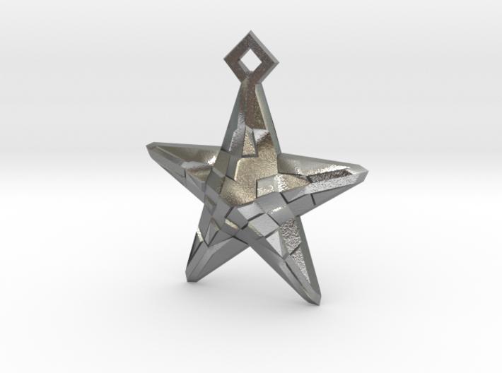 Stylised Sea Star Earring 3d printed