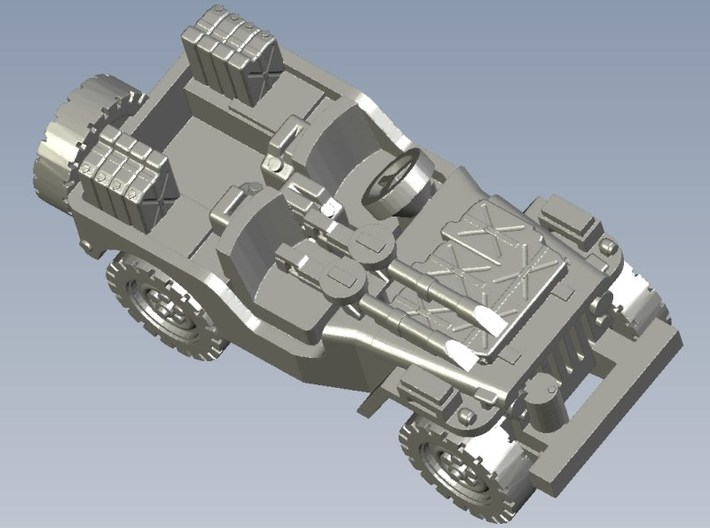 1/100 scale WWII Jeep Willys 4x4 SAS vehicles x 3 3d printed