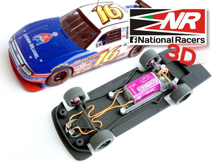 3D Chassis - SCX Ford FUSION 2008 (Combo) 3d printed Chassis compatible with SCX model (slot car and other parts not included)