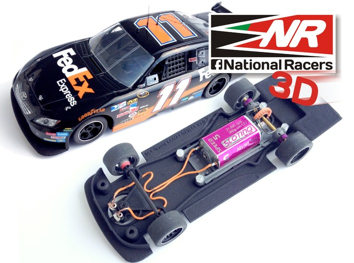 3D Chassis - SCX TOYOTA CAMRY (Combo) 3d printed Chassis compatible with SCX model (slot car and other parts not included)