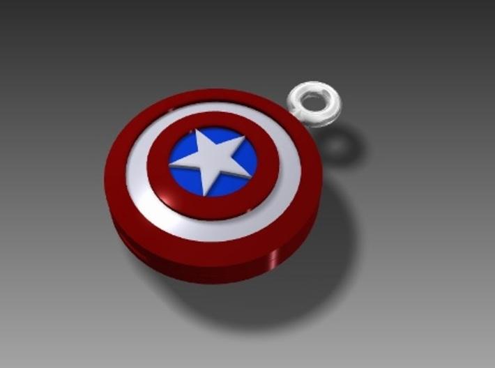 Captain America Top 3d printed Captain America-stye key ring