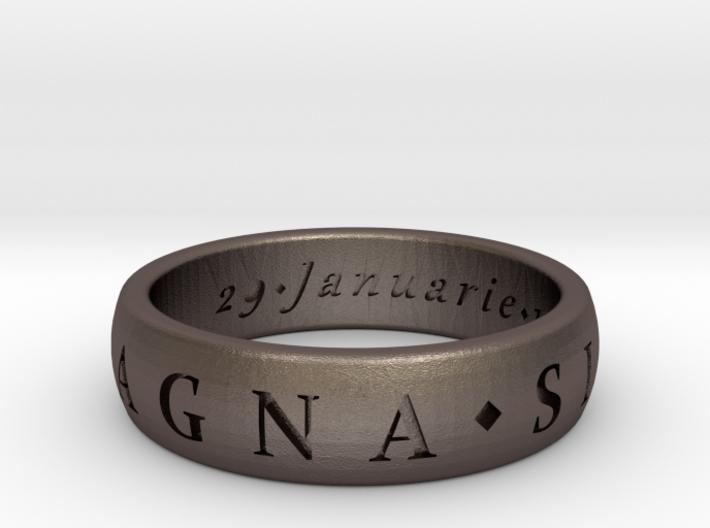 Size 10.5 Sir Francis Drake, Sic Parvis Magna Ring 3d printed