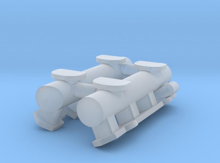 1/25 4x2 intake log, Fits Revell '32 5w Hemi 3d printed
