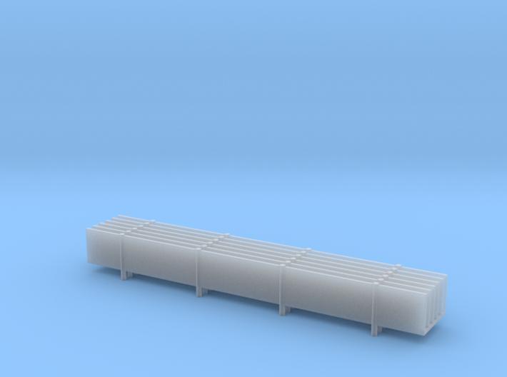 20' K-Rail Fencing (6) 3d printed