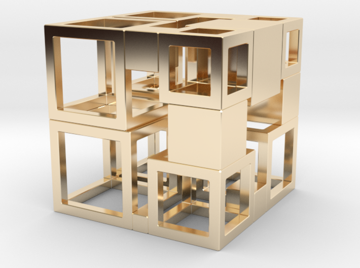 Perfect Cubed Cube Frame 43-19-1 3d printed