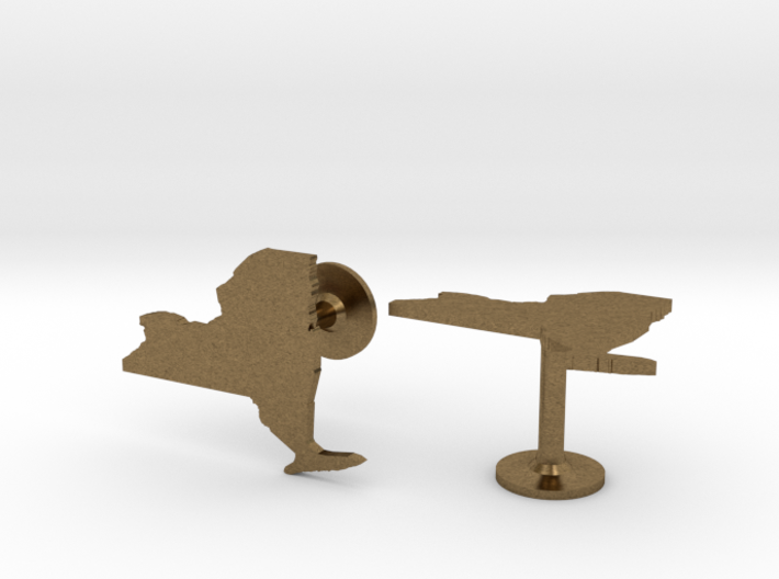 New York State Cufflinks 3d printed