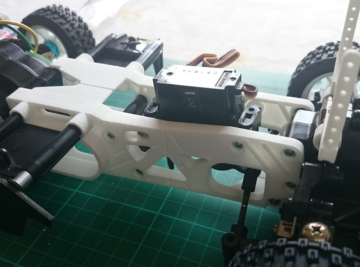 Tamiya M04 - M04S (210mm Wheelbase) chassis 3d printed Example of an assembled chassis (Not Included)