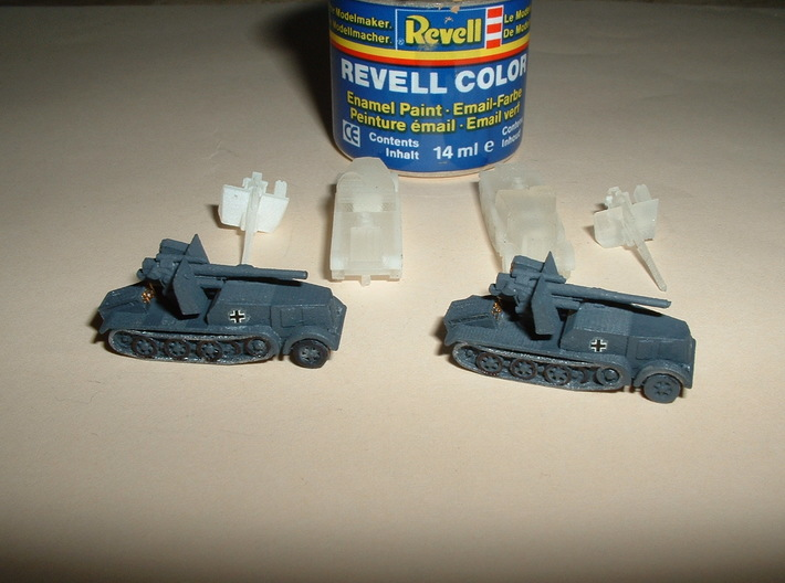 SdKfz. 8 12to Prime Mover with 8,8cm SPG 1/285 6mm 3d printed